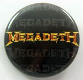 Megadeth - 'Logo Gold' 32mm Badge